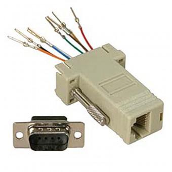 RJ-45 Female to RS-232 Male Adapter